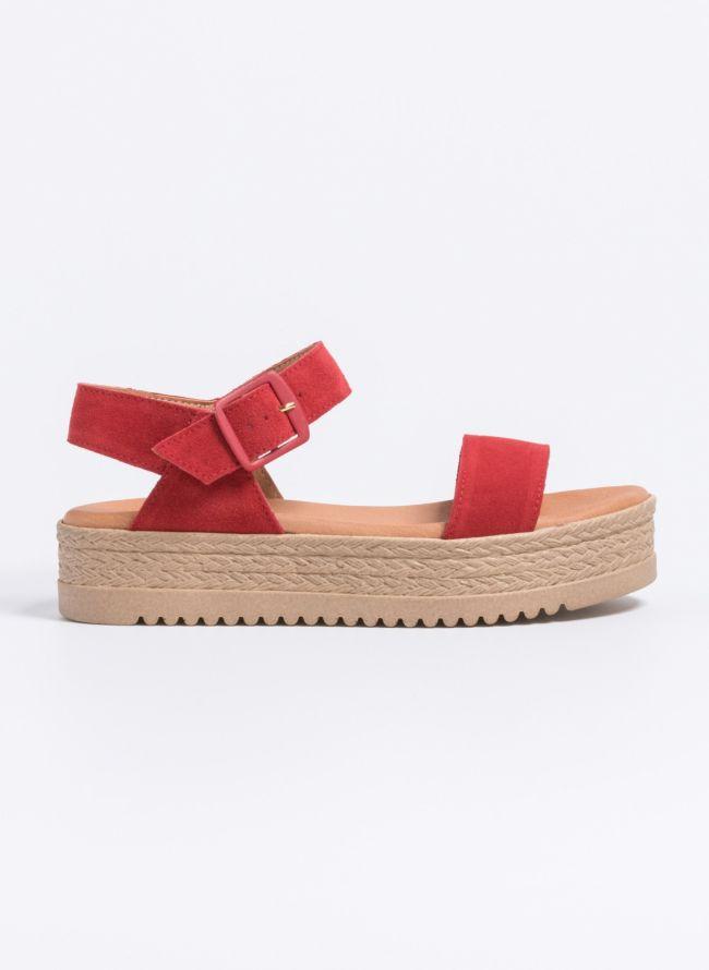 Estil καστόρινα flatforms  - Κόκκινο