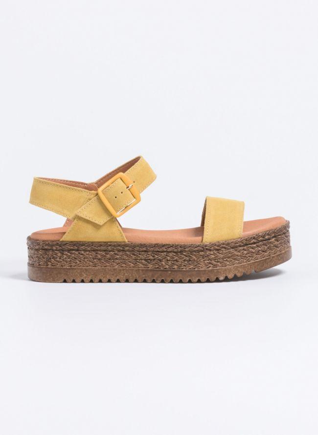 Estil καστόρινα flatforms  - Κίτρινο