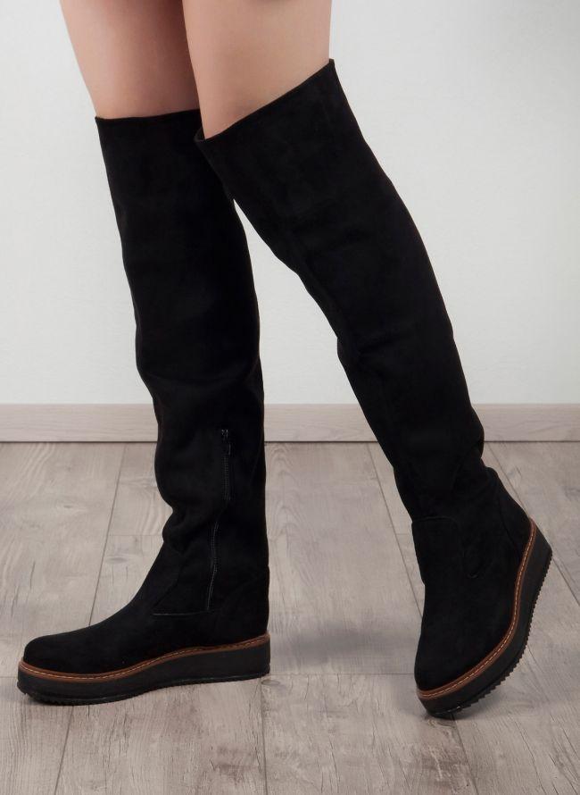 Estil over the knee μπότες - Μαύρο