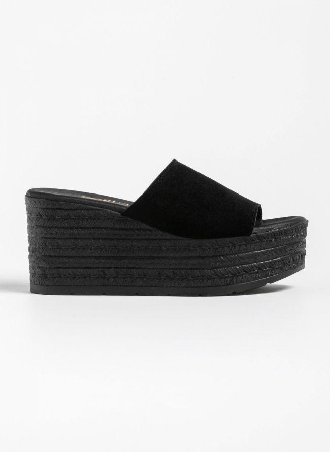 Estil καστόρινες πλατφόρμες - Μαύρο