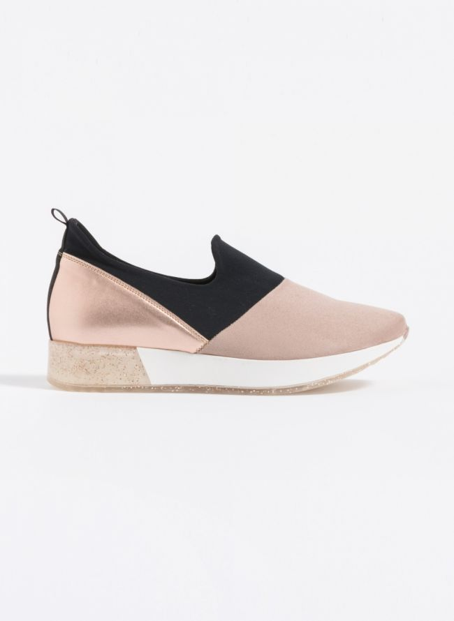 Estil suede slip-on sneakers  - Nude