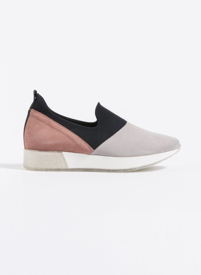 Estil suede slip-on sneakers  - Γκρι