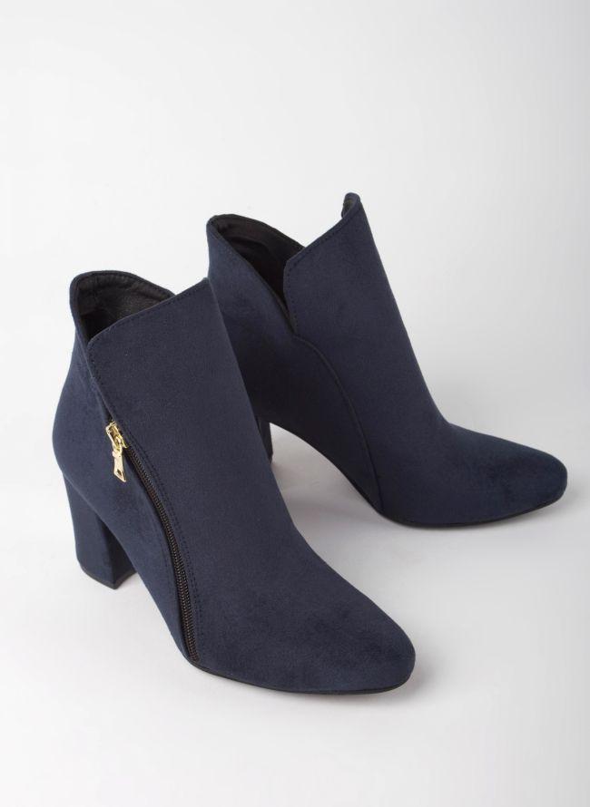 Estil suede ankle boots - Μπλε σκούρο
