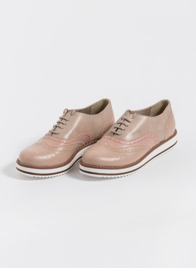 Estil τρίχρωμα oxfords - Nude