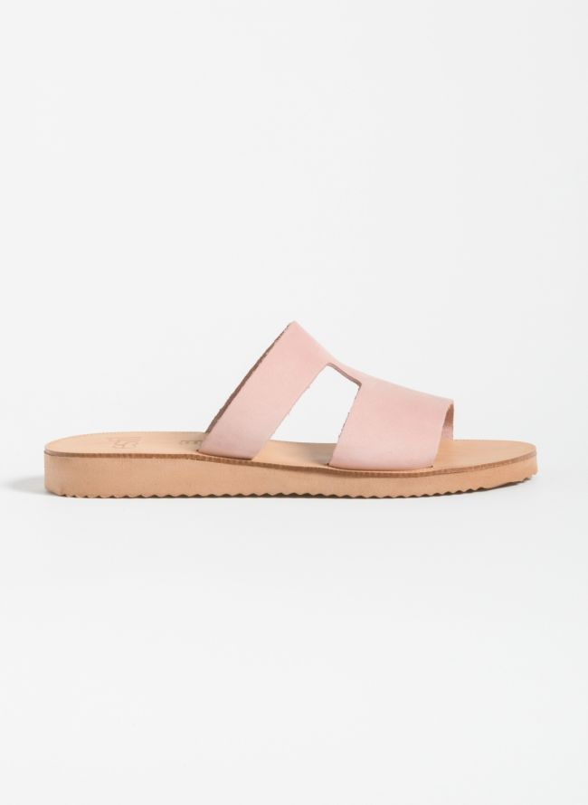 Estil Ανοιχτό δερμάτινο φλατ παπούτσι - Ροζ