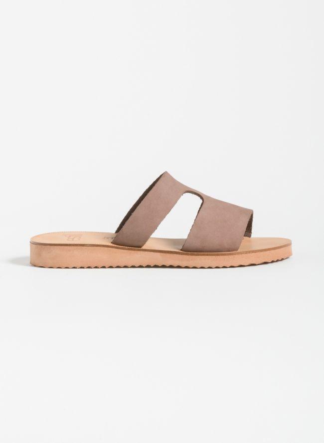 Estil Ανοιχτό δερμάτινο φλατ παπούτσι - Mocha