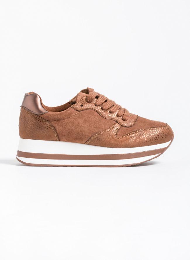 Flatform αθλητικά παπούτσια με snakeprint - Ταμπά