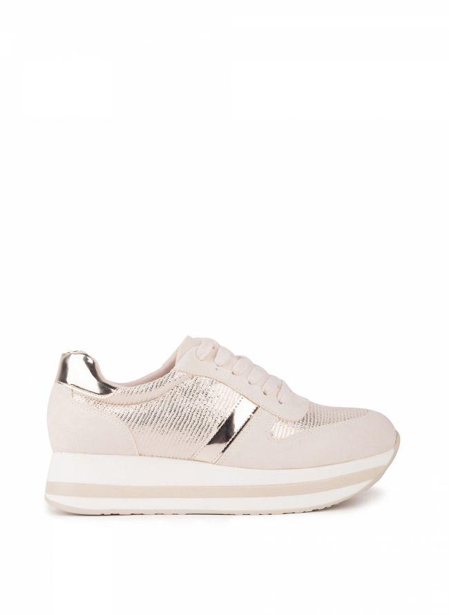 Flatform sneakers - Μπεζ