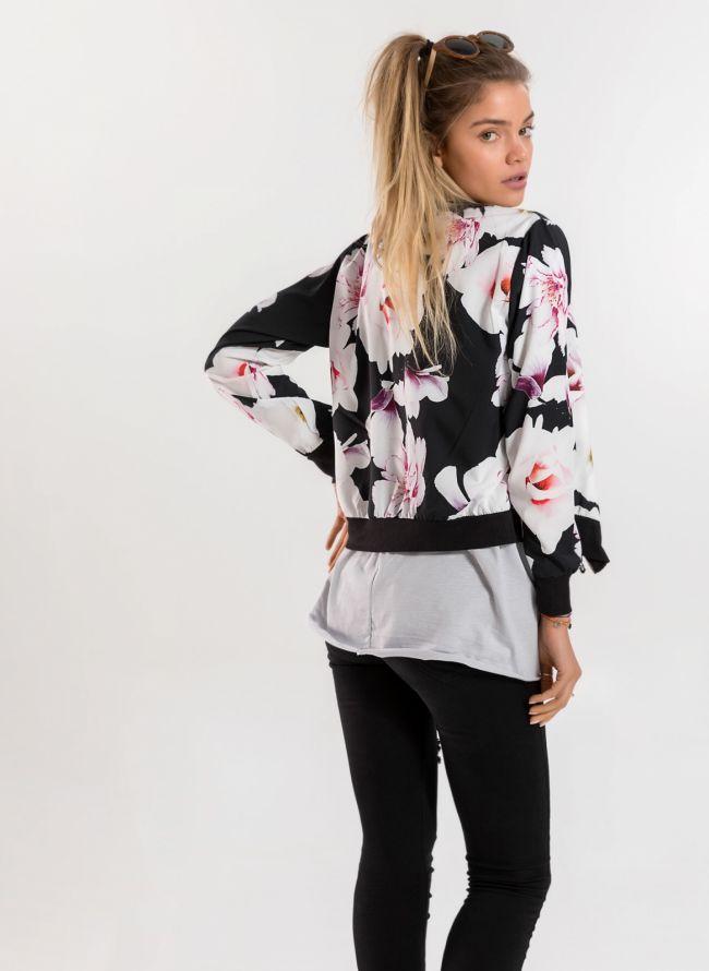 Floral jacket  - Λευκό/Μαύρο