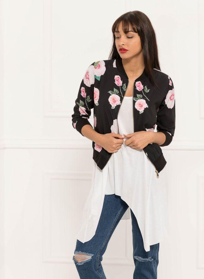 Floral jacket - Μαύρο