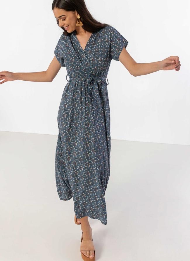 5f1f5ebb3dc Φόρεμα floral με κρουαζέ μπούστο - Ραφ