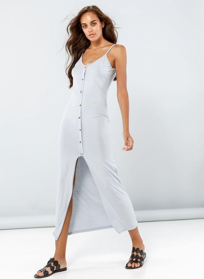 Φόρεμα maxi με κουμπιά - Πάγου