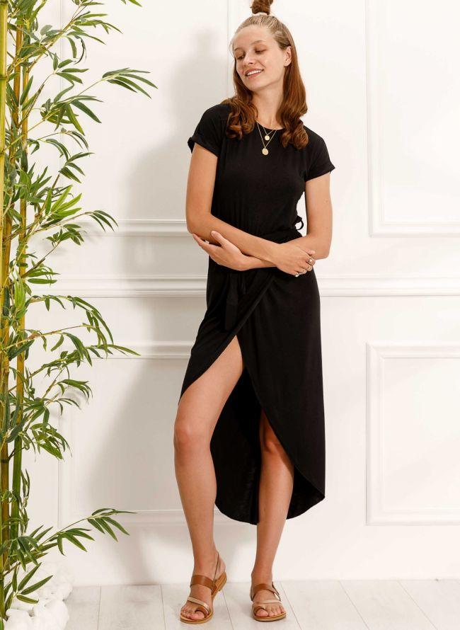 Φόρεμα με άνοιγμα - Μαύρο
