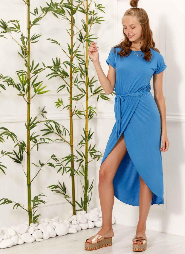 Φόρεμα με άνοιγμα - Μπλε