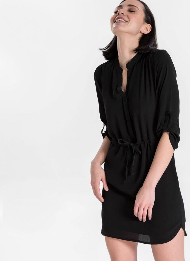 Φόρεμα με μανίκι 3/4 - Μαύρο