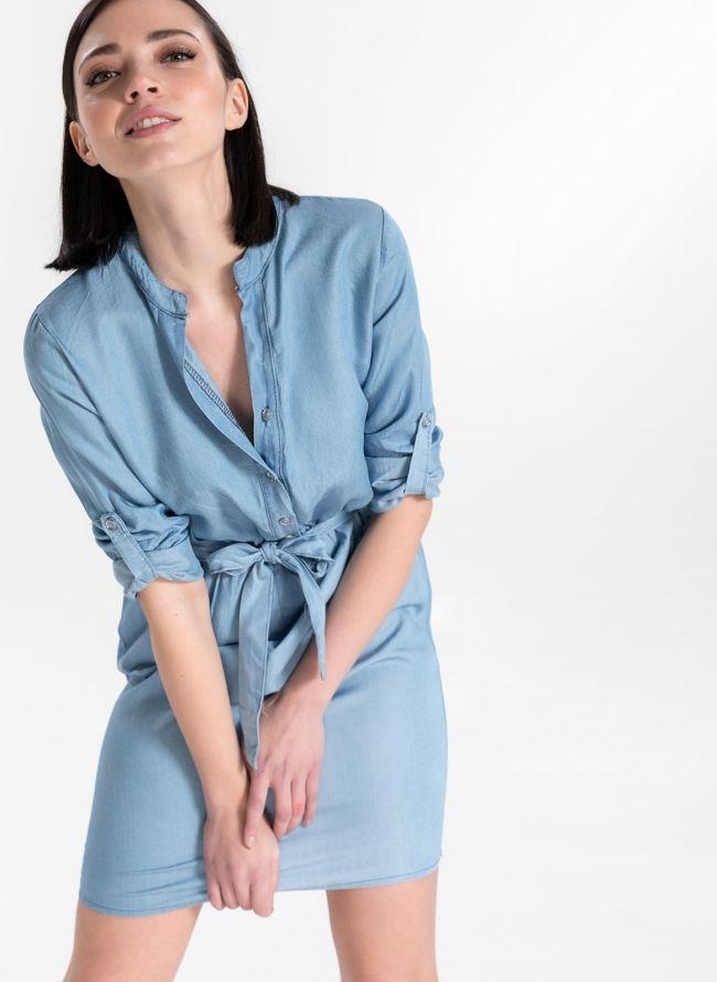 Φόρεμα με ζωνάκι - Γαλάζιο