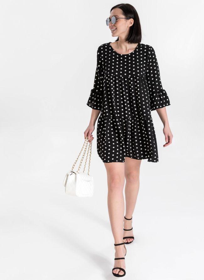 Φόρεμα πουά - Μαύρο