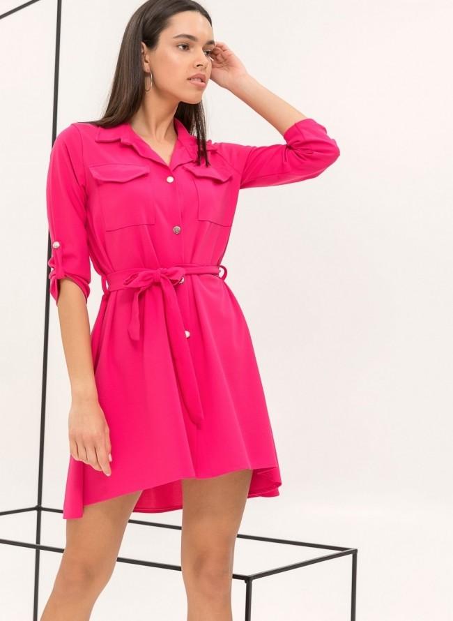 Φόρεμα κρουαζέ με ζωνάκι με φτερά - Κόκκινο - TheFashionProject 20c820dfdbc