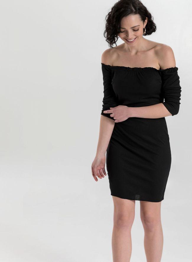 Φόρεμα rip strapless - Μαύρο