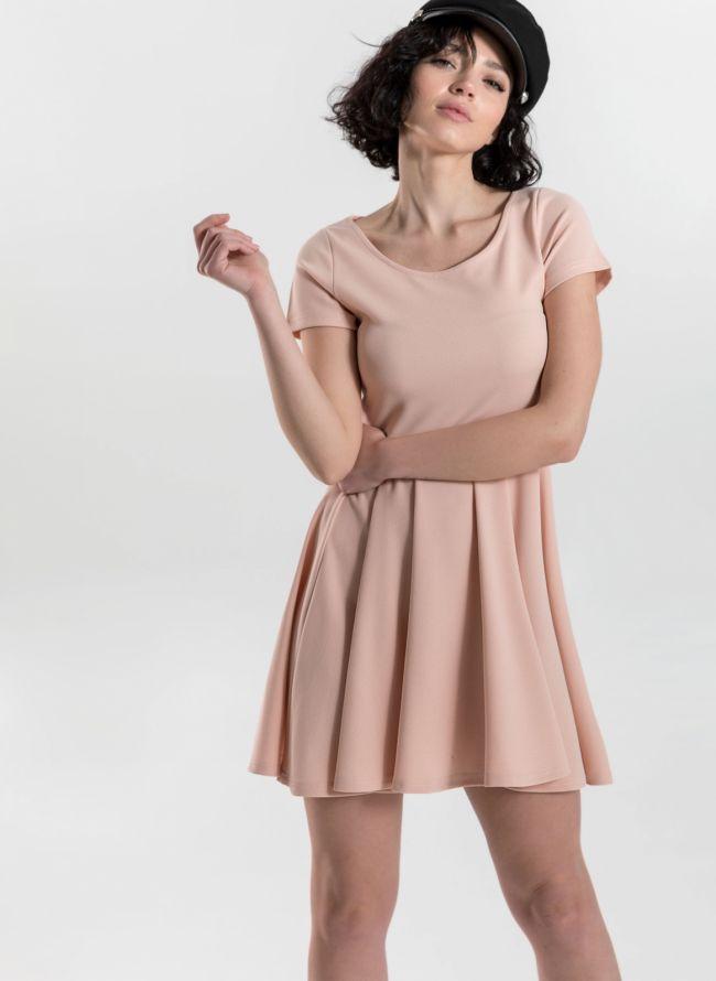 Φόρεμα σε εβαζέ γραμμή - Ροζ