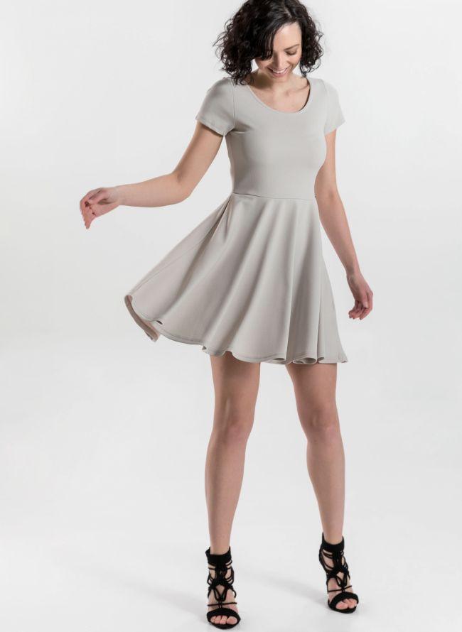 Φόρεμα σε εβαζέ γραμμή - Ζαχαρί
