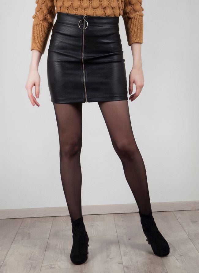 Φούστα δερματίνη - Μαύρο