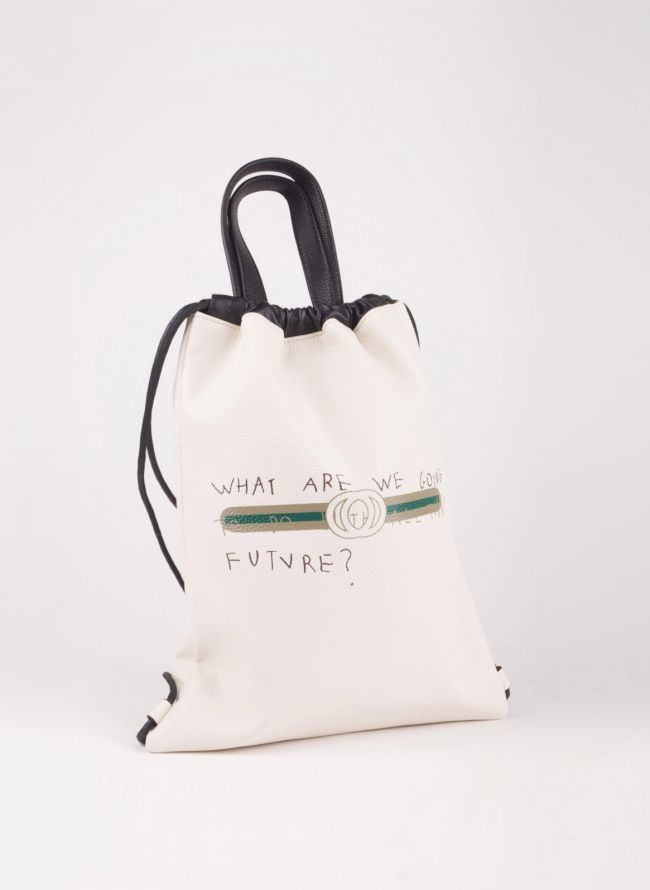 Gym sack με λογότυπο - Λευκό