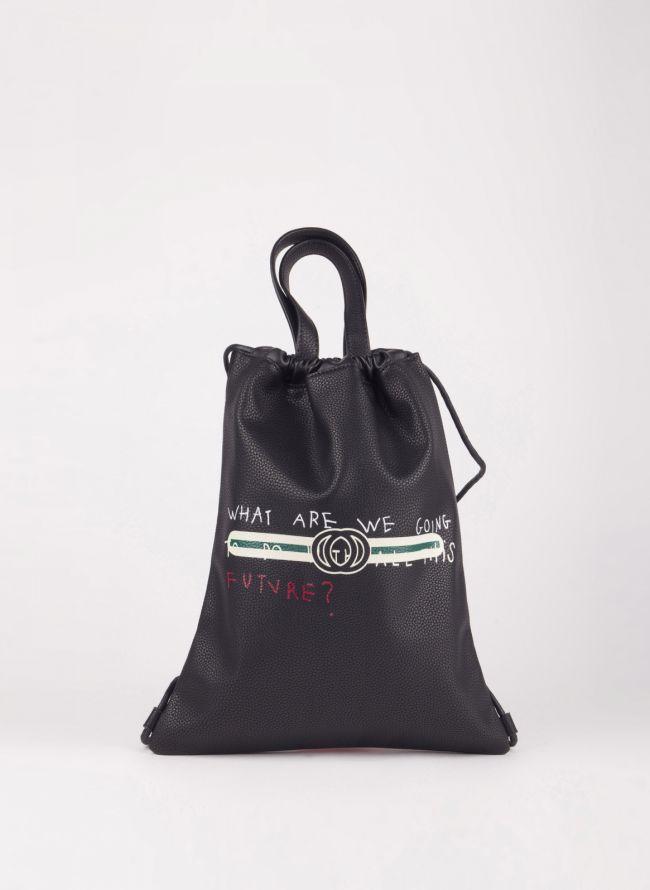 Gym sack με λογότυπο - Μαύρο