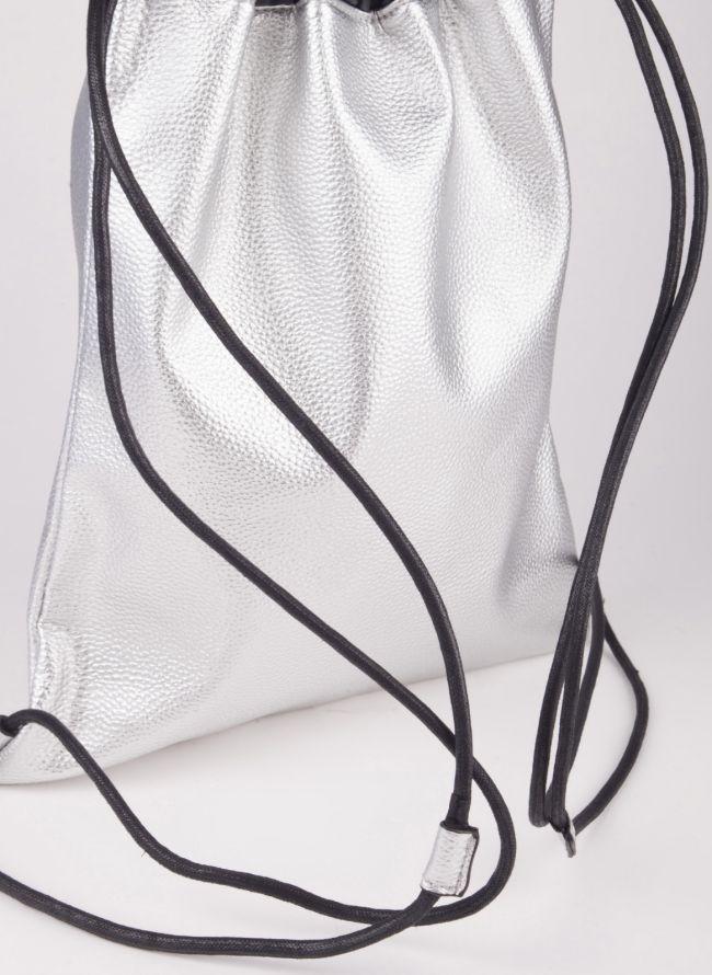 Gym sack με λογότυπο - Ασημί