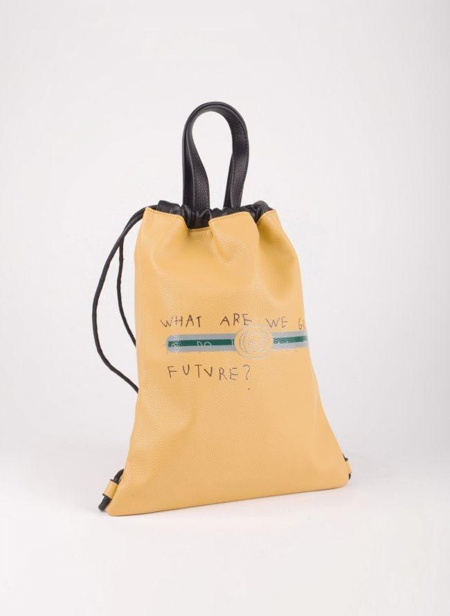 Gym sack με λογότυπο - Μουσταρδί