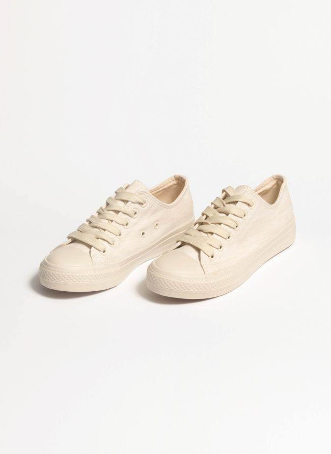 Jean sneakers - Μπεζ