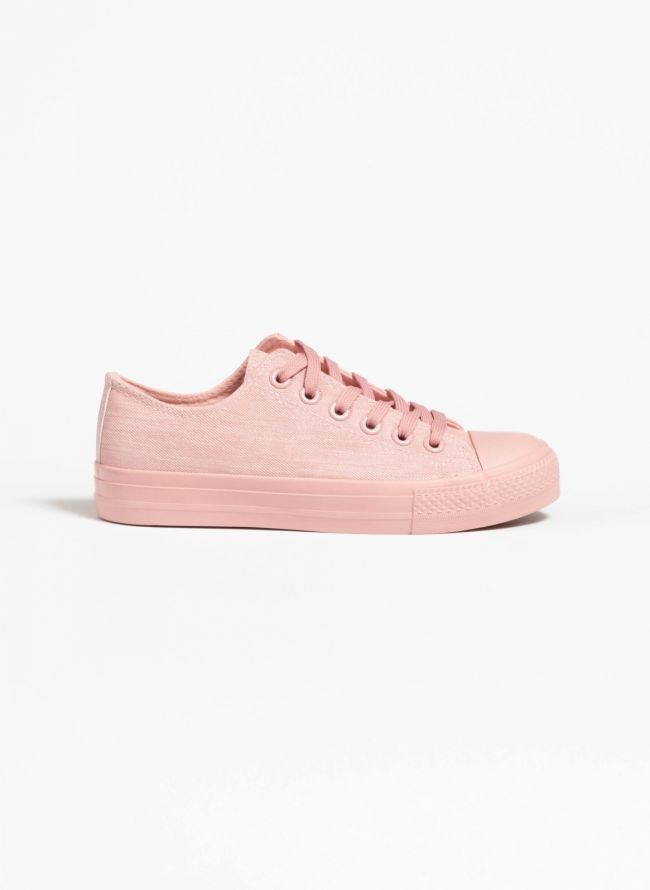 Jean sneakers - Ροζ
