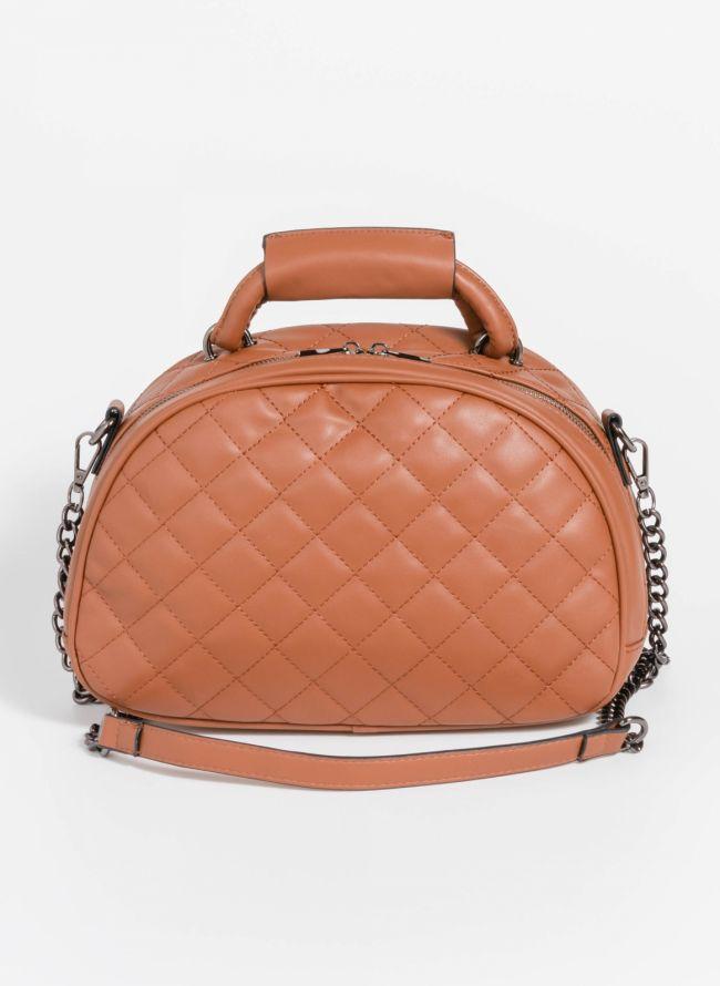 Καπιτονέ χιαστί τσάντα σε ημικυκλικό σχήμα - Ταμπά