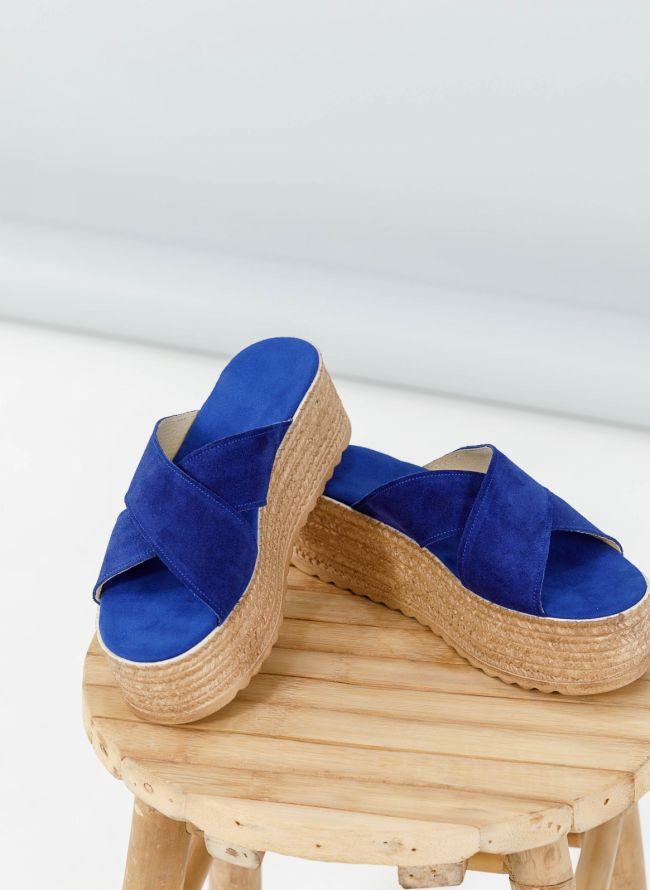 Καστόρι flatforms με χιαστί φάσες - Μπλε