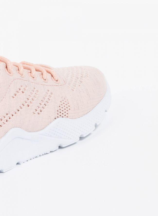 Knit διάτρητα sneakers - Ροζ
