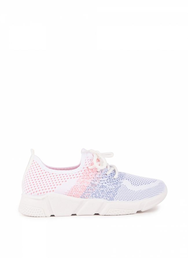 Knit slip-on sneakers - Λευκό