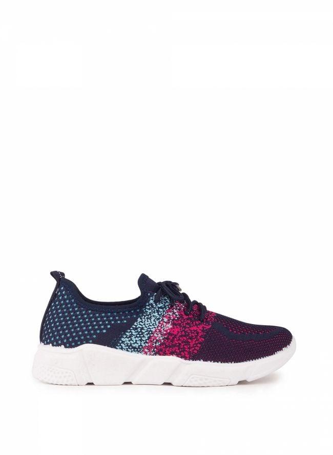 Knit slip-on sneakers - Μπλε