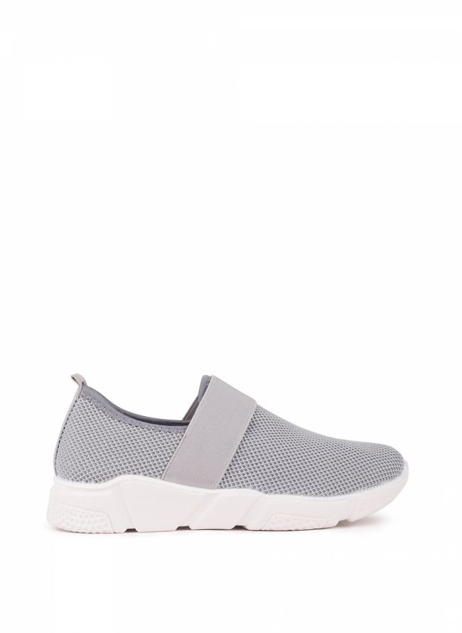 Knit slip-on sneakers - Γκρι