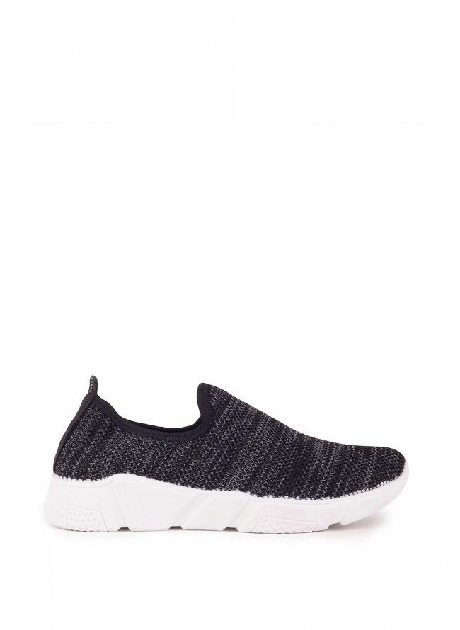 Knit slip-on sneakers - Μαύρο