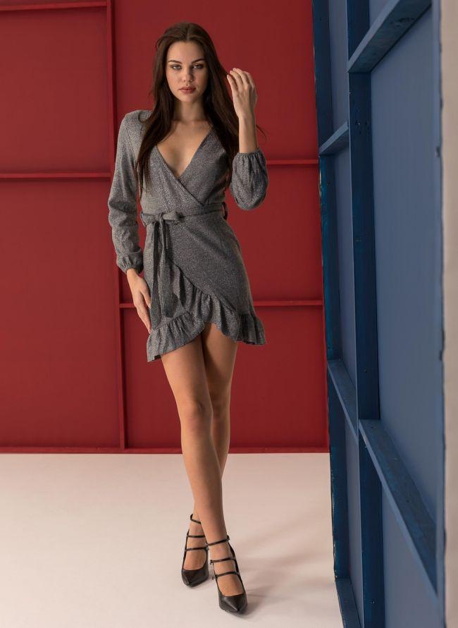 Maxi φόρεμα με δέσιμο στο στήθος - Μαύρο - TheFashionProject 786e933cf0f