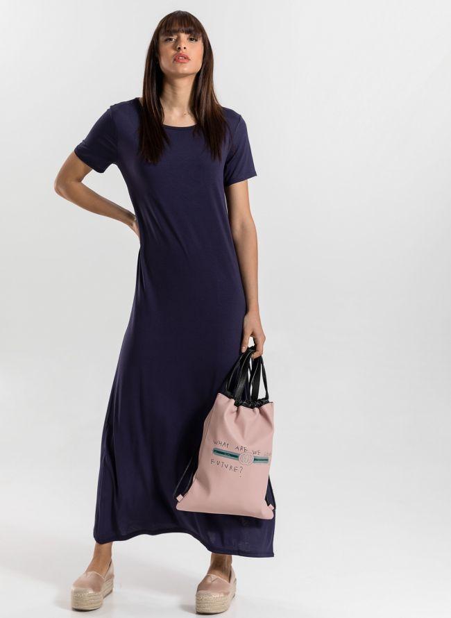 Maxi φόρεμα με άνοιγμα στο πλάι - Μπλε