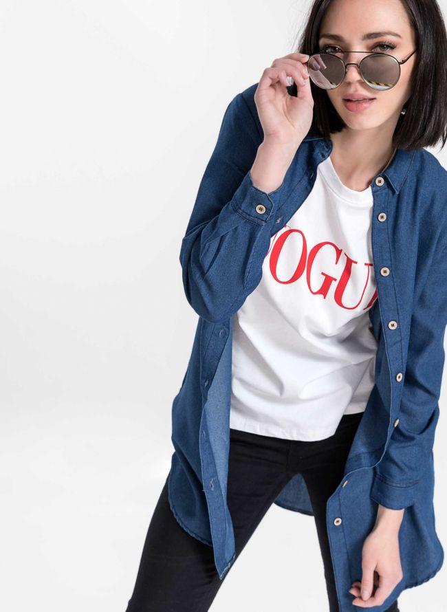 Μακρύ πουκάμισο - Μπλε jean