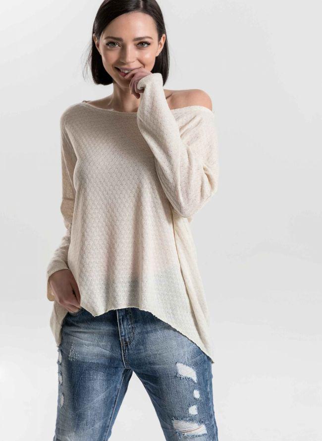 Μακρυμάνικη μπλούζα σε παστελ χρώματα - Μπεζ