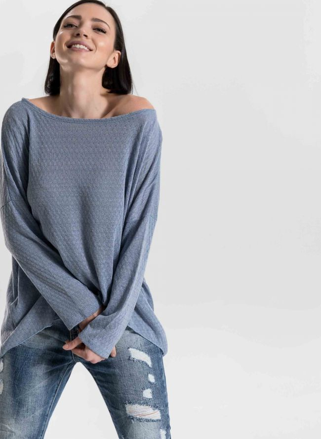 Μακρυμάνικη μπλούζα σε παστελ χρώματα - Ραφ