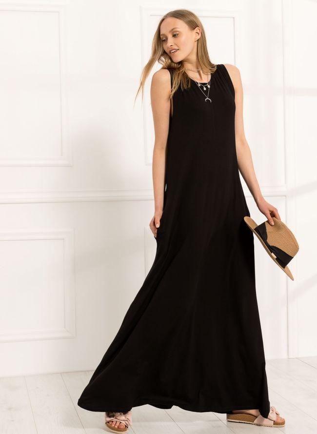Maxi αμάνικο φόρεμα - Μαύρο - TheFashionProject b00e1825cb5