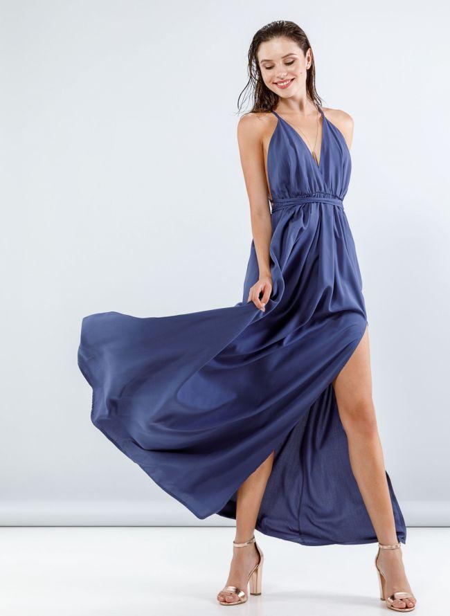 Maxi φόρεμα με άνοιγμα στο πλάι - Ραφ