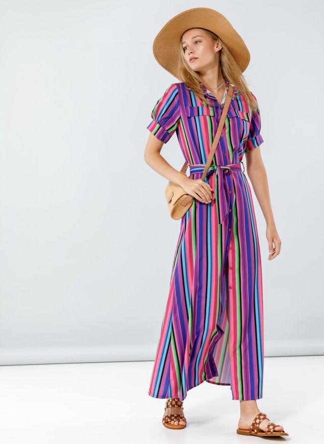 Maxi φόρεμα με κουμπιά - Multi