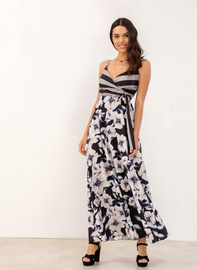 a80aa2ea88ca Maxi φόρεμα με floral pattern - Μαύρο