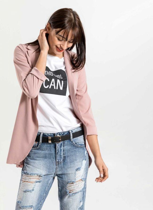Μεσάτο casual σακάκι - Ροζ