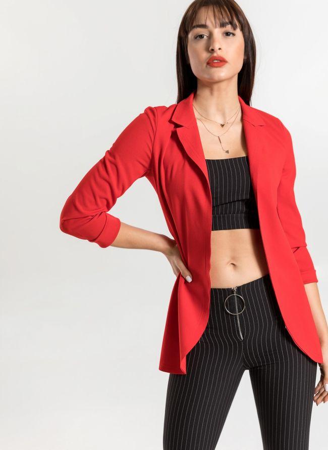 Μεσάτο casual σακάκι - Κόκκινο